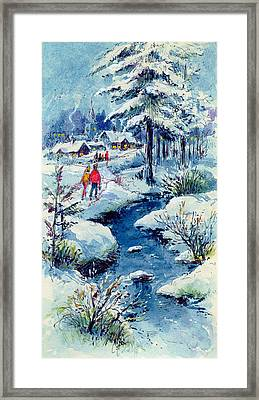 A Winters Scene Framed Print by Stanley Cooke