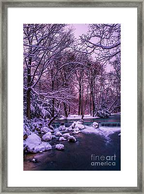 a winter's tale I - hdr Framed Print by Hannes Cmarits