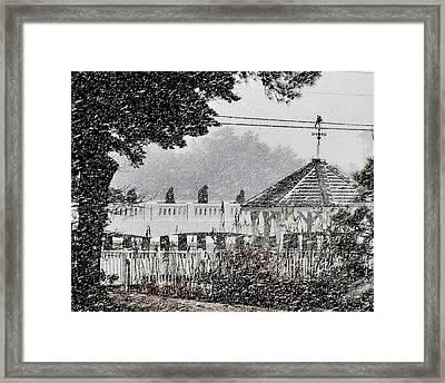 A Winter's Walk By Silver Lake Framed Print by Kim Bemis