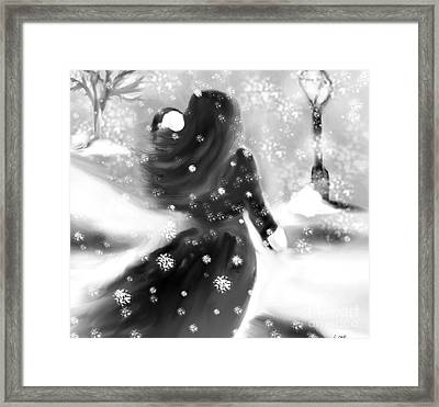 A Winters Walk Framed Print by Lori  Lovetere