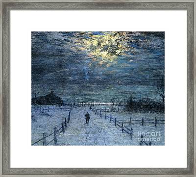 A Wintry Walk Framed Print by Lowell Birge Harrison