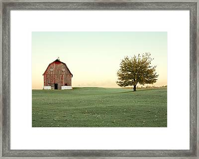 A Wisconsin Postcard Framed Print by Todd Klassy