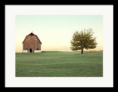 Red Farmhouse Framed Prints