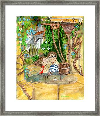 Framed Print featuring the drawing A Wish And A Promise by Joseph Hawkins