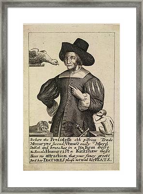 A Witch Framed Print by British Library