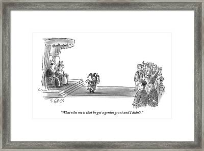 A Wizard Complains To Another Onlooker Framed Print