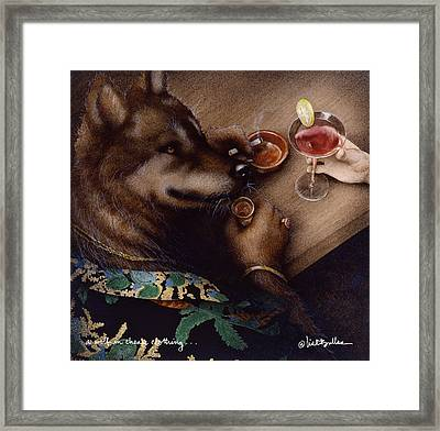A Wolf And Cheap Clothing... Framed Print