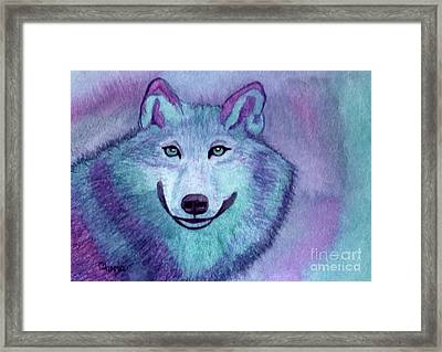 A Wolf Of A Different Color Framed Print by Vikki Wicks