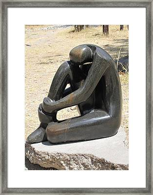 A Woman Alone  I Framed Print