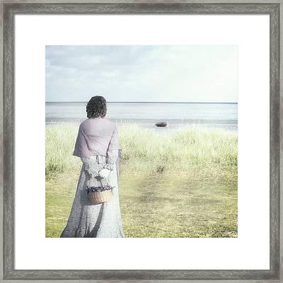 A Woman And The Sea Framed Print by Joana Kruse