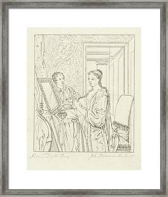 A Woman At Her Toilet, Joannes Bemme Framed Print