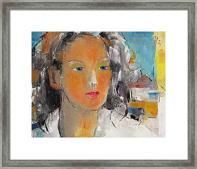 A Woman Framed Print by Becky Kim