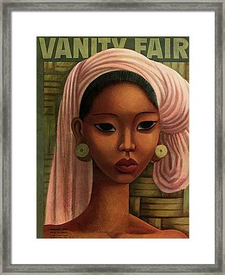 A Woman From Bali Framed Print by Miguel Covarrubias