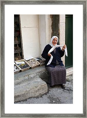 A Woman From Bethany Framed Print