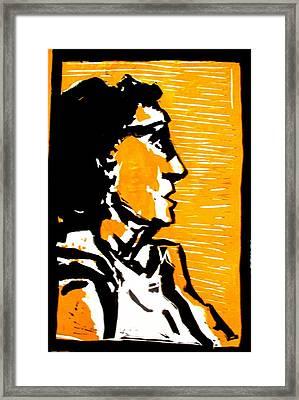 A Woman II Framed Print by Maria Mimi
