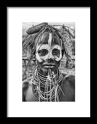 Tribal Woman Framed Prints