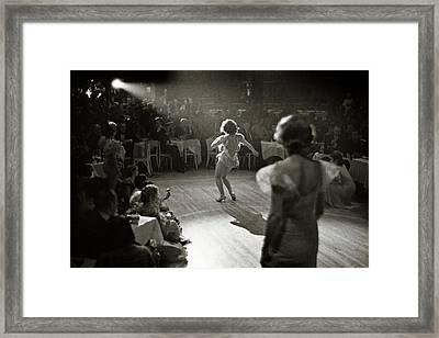 A Woman Performing At Nightclub Framed Print