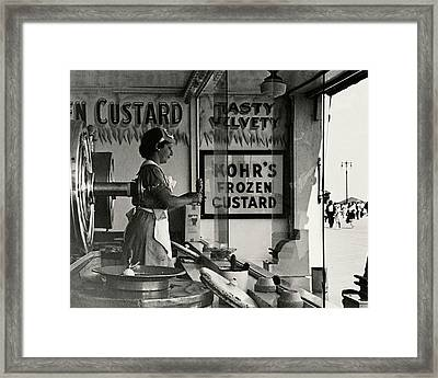 A Woman Selling Custard Framed Print