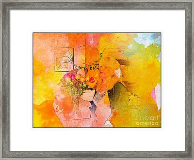 A Woman Thinking Framed Print