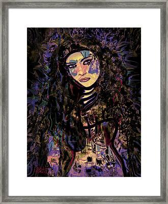 A Woman Warrior Framed Print by Natalie Holland