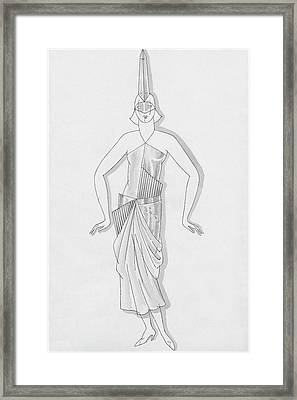 A Woman Wearing A Costume Framed Print