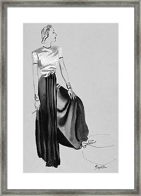 A Woman Wearing A Dress By Muriel King Framed Print by R.S. Grafstrom