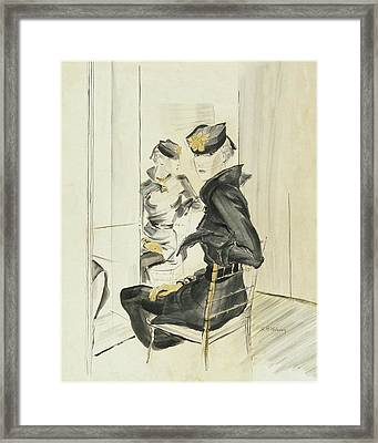 A Woman Wearing A Toque By J Suzanne Talbot Framed Print by Rene Bouet-Willaumez