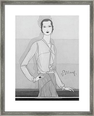 A Woman Wearing A Worth Blouse Framed Print