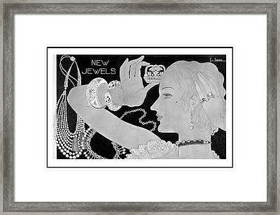 A Woman Wearing Designer Jewelry Framed Print