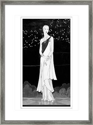 A Woman Wearing Reboux Framed Print by Douglas Pollard