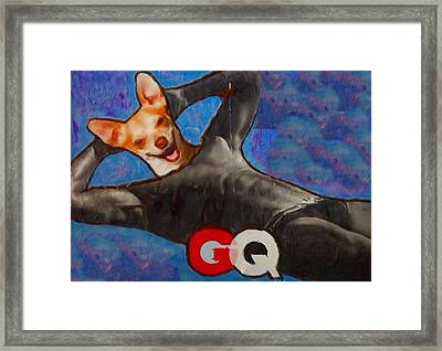 Framed Print featuring the painting A Woman's Best Friend  by Lisa Piper