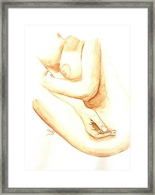 A Woman's Touch Framed Print by Donna Blackhall
