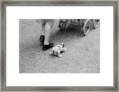 Framed Print featuring the photograph A Woman's Work Is Never Done by Steven Macanka