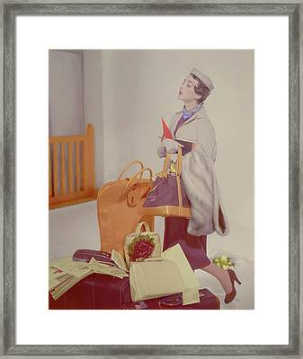 A Women In A Jacket Framed Print by Horst P. Horst