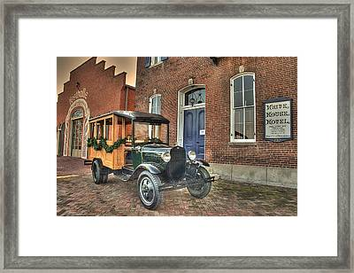 A Woody At The White House Framed Print
