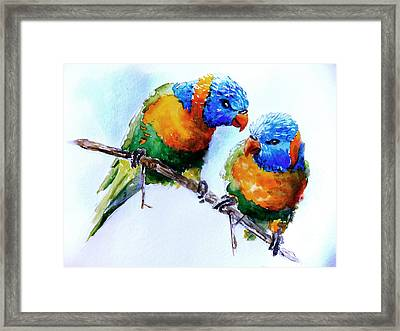 Framed Print featuring the painting A Word In Your Ear by Steven Ponsford