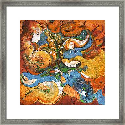 A World Apart Framed Print by Valerie Graniou-Cook
