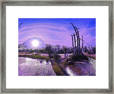 Framed Print featuring the photograph A World Within A World  by Yolanda Raker