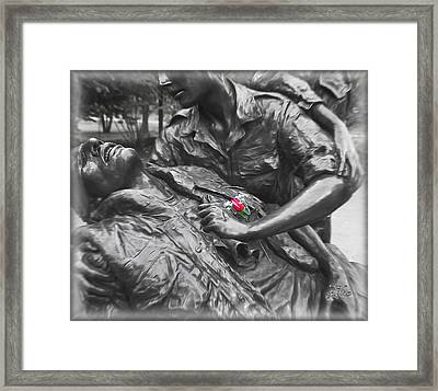 A Wounded Nation Framed Print