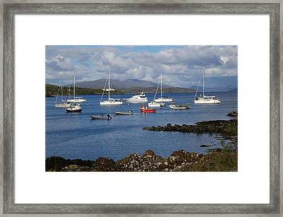 A Yachting Haven Framed Print by Veron Miller