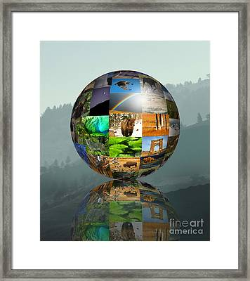 Framed Print featuring the photograph A Yellowstone World by Clare VanderVeen