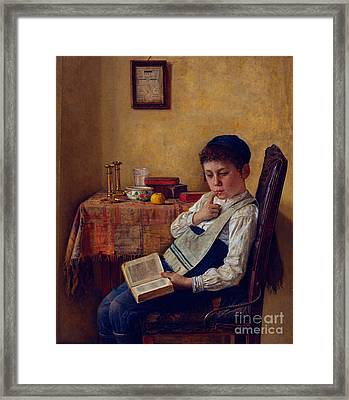 A Yeshiva Boy Framed Print by Celestial Images