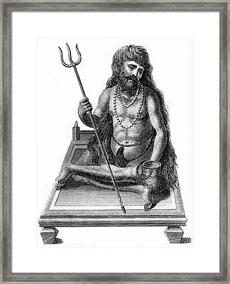 A Yogi Meditating Framed Print by Universal History Archive/uig