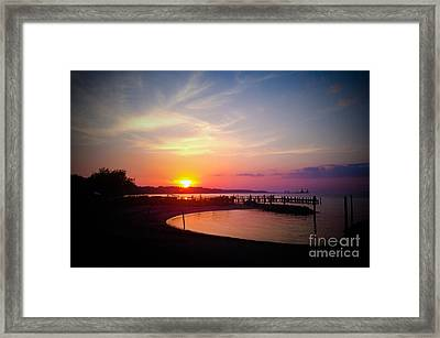 A Yorktown Sunset Framed Print