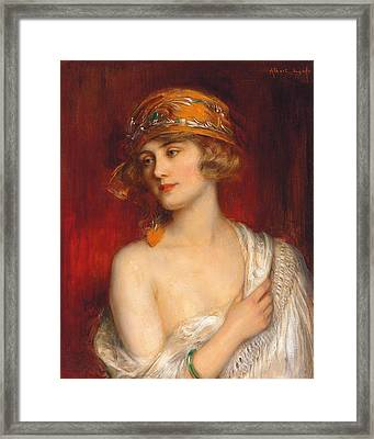 A Young Beauty Framed Print by Albert Lynch