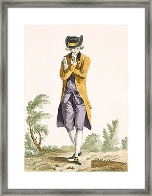 A Young Bourgeoise Acting Student Deep Framed Print by Pierre Thomas Le Clerc