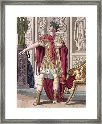 A Young Emperor In His Imperial Armour Framed Print by Jacques Grasset de Saint-Sauveur