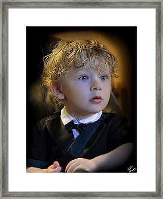 Framed Print featuring the photograph A Young Gentleman by Ally  White