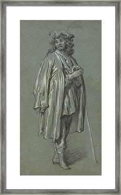 A Young Man Standing Govaert Flinck, Dutch Framed Print by Litz Collection