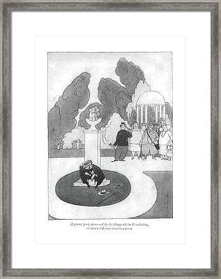A Young Poet Framed Print